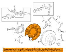 GM OEM Rear Brake-Backing Plate Splash Dust Shield 22775568