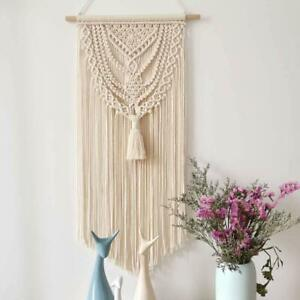 Macrame Wall Hanging Tapestry Boho Woven Handmade Home Art Decor Wall Pediment