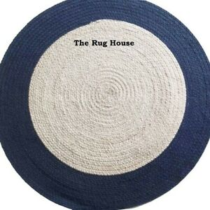 Rug 100% Natural Braided Jute reversible handmade carpet rug outdoor area rugs