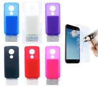 "Case Cover Gel TPU Silicone For Motorola Moto E5 (4G) 5"" + Optional Protector"