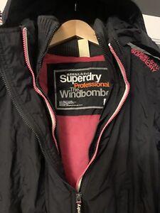 Superdry Ladies Girls XL (14-15yrs) Winter Windbomber Coat Jacket Black School