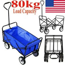 Collapsible Garden Trolley Cart Heavy Duty Wagon 360° 4 Wheel Swivel Handle Cart