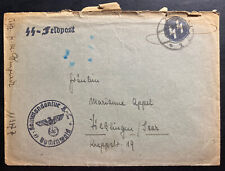 1940s Germany Buchenwald Concentration Camp Commandant Cover Waffen SS Feldpost