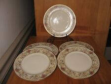 Lamberton Ivory China DOROTHEA bread & butter Plates Floral Gold made USA 5