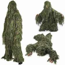 Nitehawk Adults Woodland Camo/Camouflage 3D Hunting Ghillie Burlap Suit 5Pcs/Set