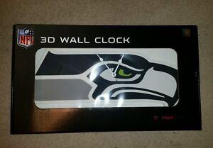 Seattle Seahawks 3D Foam Wall Clock By Foam Fanatics
