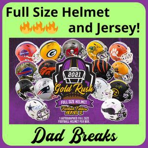 SAN FRANCISCO 49ERS autographed Gold Rush Full-Size Helmet + Jersey: 2 BOX BREAK