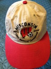 Wisconsin Men's Soccer 1995 National Champion Baseball Cap hat Kaki GXN