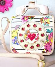 Betsey Johnson Telephone Crossbody  Purse Retro Floral With Mini Phone NWT