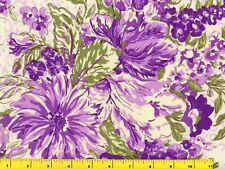 Big Grape Purple Summer Flowers Quilting Fabric by Yard  #503