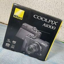 NEW! Nikon Coolpix A1000 16MP 4K UHD Point and Shoot Digital Camera 35X ZOOM