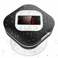 Bluetooth 4.1 Duschradio mit LED Digitalem Bildschirm, Saugnapf, IPX4 Wasserdich
