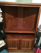 "wooden tv corner unit by The Orginal Tandarra  Collection 3' 2"" X 5'"