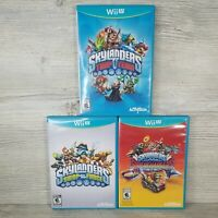 Skylanders Wii U Video Game Lot of 3 Swap Force Trap Team Superchargers TESTED