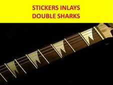 STICKERS INLAY DOUBLE SHARKS SILVER IBANEZ VISIT OUR STORE CUSTOM GUITARS & BASS