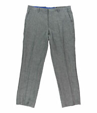 I.N.C. INTERNATIONAL CONCEPTS LINO Tg. 50 TROUSER COLLECTION LINEN GREY W34 L30