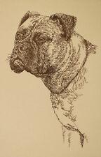 Bullmastiff Dog Art Gift Stephen Kline will draw your dogs name free Print #22