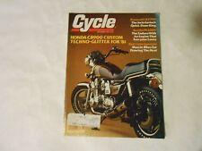 SEPTEMBER 1980 CYCLE MAGAZINE,HONDA CB900 CUSTOM COVER,KAWASAKI KZ750,SUZUKI PE4