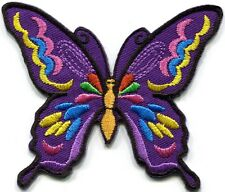 Butterfly insect boho hippie retro love peace applique iron-on patch new G-88