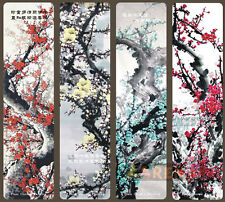 Paper Bookmarks Double edged Plum Blossom Chinese Poetry 4 pieces book markers