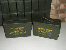 2(Two) 50 Cal Mil-Spec M2A1 Grade 1 Ammo Can, Best On Ebay!