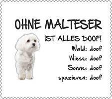 """Displayreinigunstuch Malteser """"ALLES DOOF"""" Brillenputztuch NEU Hund GT0023"""