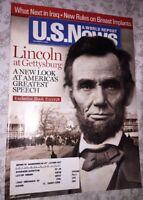 2006 U.S. News & World Report Magazine: Lincoln at Gettysburg/Breast Implants