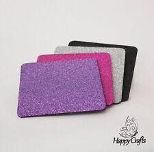 Glitter Drinks Coasters Set of 4 Pink Purple Black & Silver