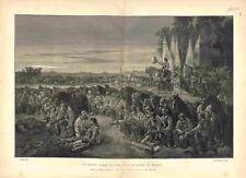 Le Grand Condé le soir de la Bataille de Rocroy d'Alexandre Bida GRAVURE 1883