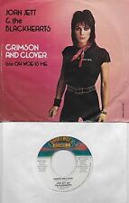 JOAN JETT  Crimson And Clover / Oh Woe Is Me 45 with PicSleeve