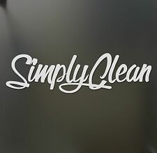 Simply Clean sticker V2 Funny JDM acura honda lowered car truck window decal