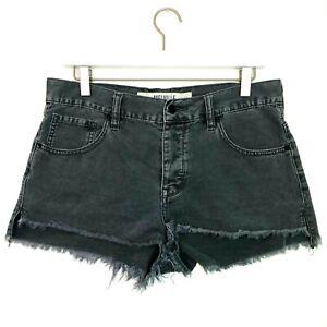 brandy melville raw hem denim shorts grey size 29 US 8