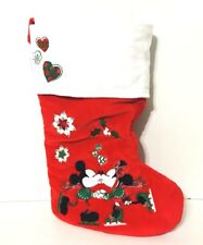 Disney Parks Mickey & Minnie Mouse Skating Holiday Christmas Stocking Love