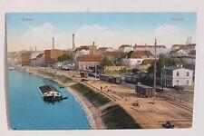 27252 AK RIESA Eisenbahn Anlagen mit Waggons an der Elbe 1913