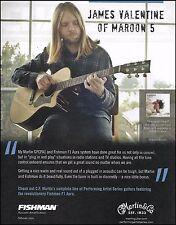 Maroon 5 James Valentine Martin GPCPA1 guitar ad 8 x 11 advertisement print
