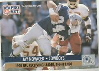FREE SHIPPING-MINT-1991 Pro Set Jay Novacek #12 COWBOYS PLUS BONUS CARDS