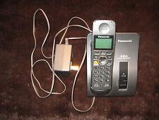 Panasonic KX-TG602 phone base and one phone. Charcoal color
