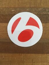 Bontrager - White Decal/Red Logo Circle - Bicycle Cycling Sticker Decal