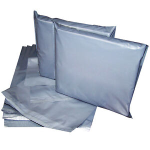 1000 Charcoal Postal Mailer Mailing Bags Top Quality A Grade 14X19' 356x483mm UK