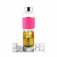Asobu Ice Tea and Coffee Infuser Glass Water Bottle To-Go for C... Free Shipping