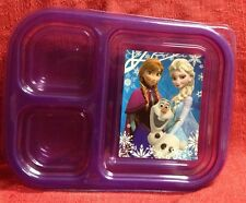 DISNEY FROZEN 3 Section Lunch Snack Storage Container School BPA FREE 22.5 Oz
