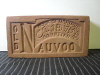 "Old Nauvoo ""Book of Mormon"" souvenir paperweight clay miniature brick"