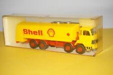 """BOX15] Roskopf 1:87 411 Saurer D 290/330 4-Achser Tankwagen """" Shell """"  OVP"""