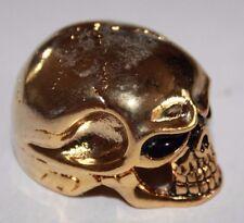 Potiknopf Jumbo Skull Totenkopf gold  6 & 6,3 mm  Q-parts Metall Knopf