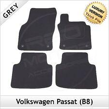 VW Passat B8 2014 onwards Fully Tailored LUXURY 1300g Carpet Car Floor Mats GREY