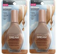 2 x Maybelline Dream Wonder Fluid Touch Foundation 50 CREAMY NATURAL SPF 20 20ml
