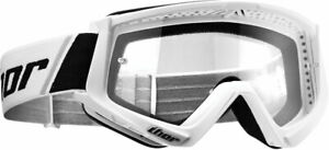 Thor MX Motocross YOUTH Combat Goggles (White/Black) Youth