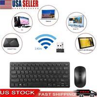 Computer Desktop Slim Gaming Keyboard & Mouse Combo Ergonomic 2.4G for Laptop PC