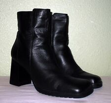WOMENS BLACK LEATHER UNISA BRAZIL ANKLE BOOTS US 9.5 N NARROW EUR 39.5 40 40.5