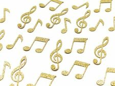 100 x Gold Glitter Musical Note Table Confetti Scatter Wedding Party, Music Clef